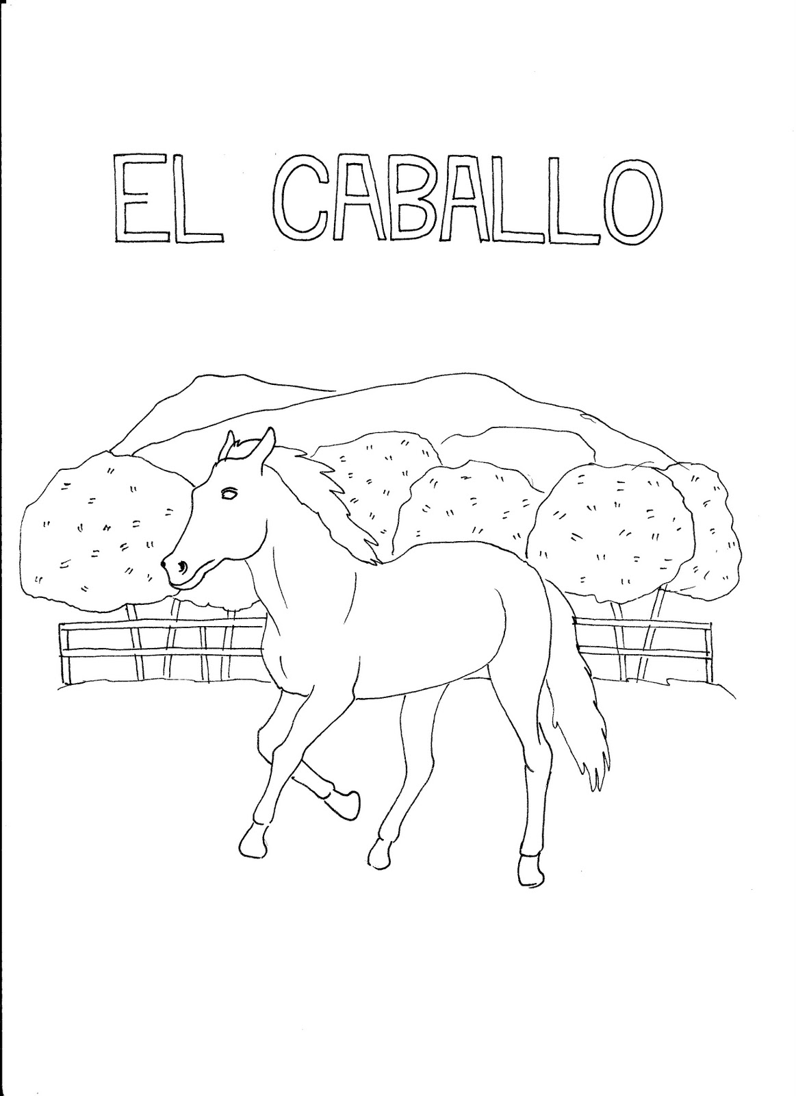 Spanish Works: Spanish Coloring Book: Los Animales