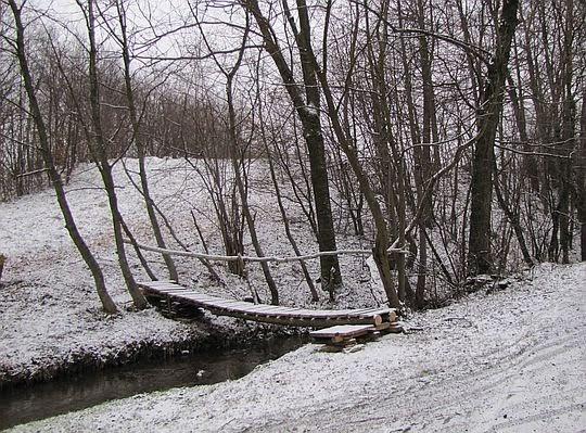 Mostek nad dopływem Stradomki