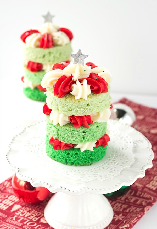 Christmas Tree Cupcakes from Cookie Dough and Oven Mitt