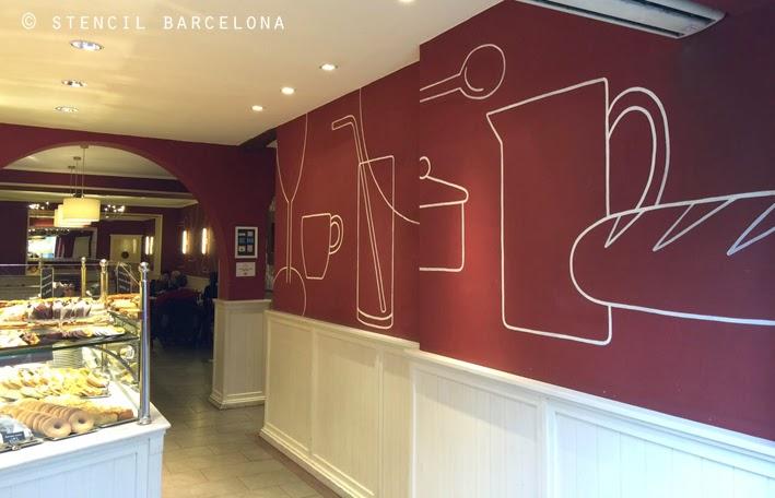 Stencil barcelona - Papel de pared para pintar ...