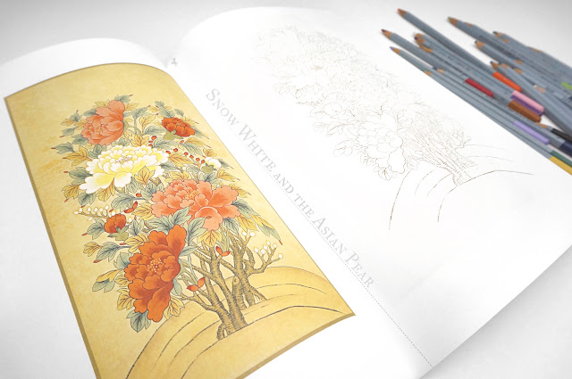Minhwa (Korean Folk Art) Adult Colouring Book