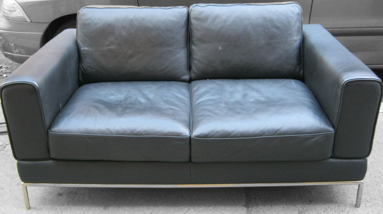Ikea Arild Leather Loveseat Sold Soloshrinks