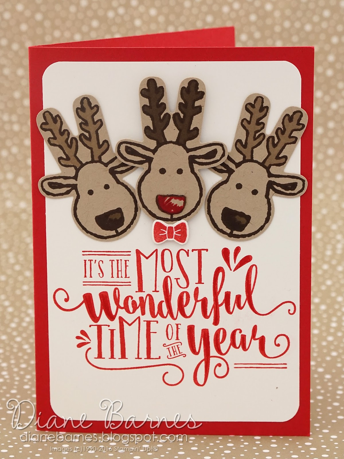 colour me happy: More quick & easy reindeer Christmas cards