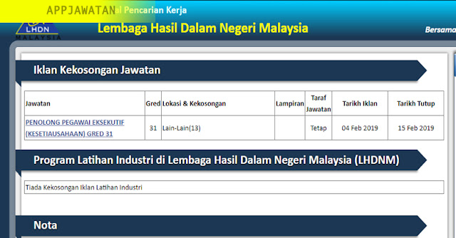 Lembaga Hasil Dalam Negeri Malaysia (LHDN)