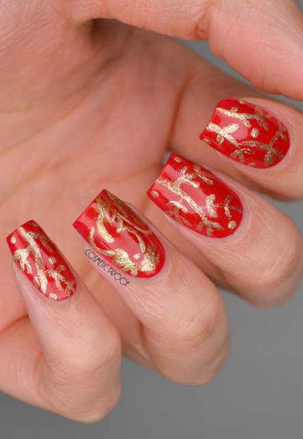 Year of the Rooster Lunar New Year Nail Art