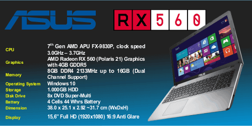 laptop asus gaming terbaru amd fx