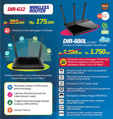 ROUTER WIFI DLINK FIRST MEDIA