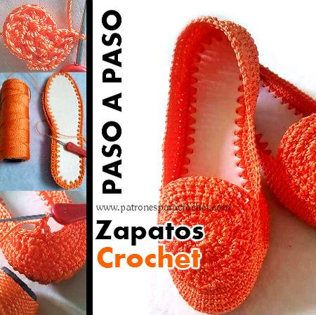zapato-calzado-crochet