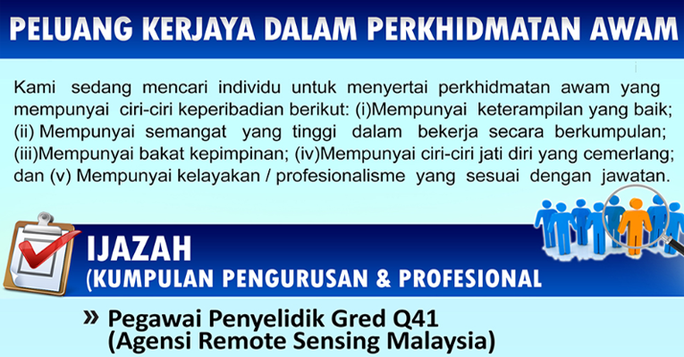 Jawatan Kosong di Agensi Remote Sensing Malaysia