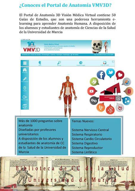 Portal de Anatomía Visión Médica Virtual 3D (EDVMV)