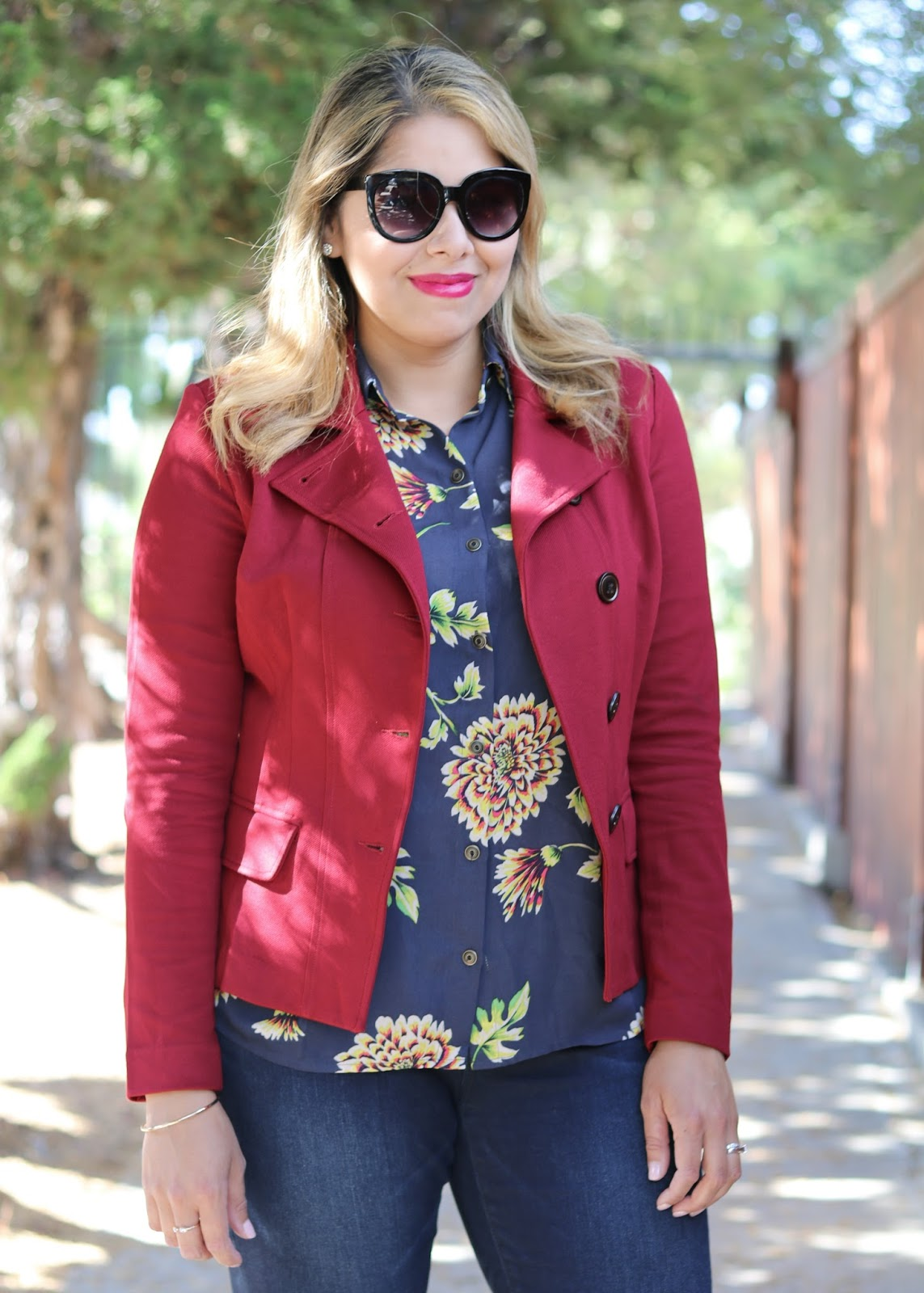 Fall floral blouse, san diego street style, san diego chic style, chic bloggers 2016
