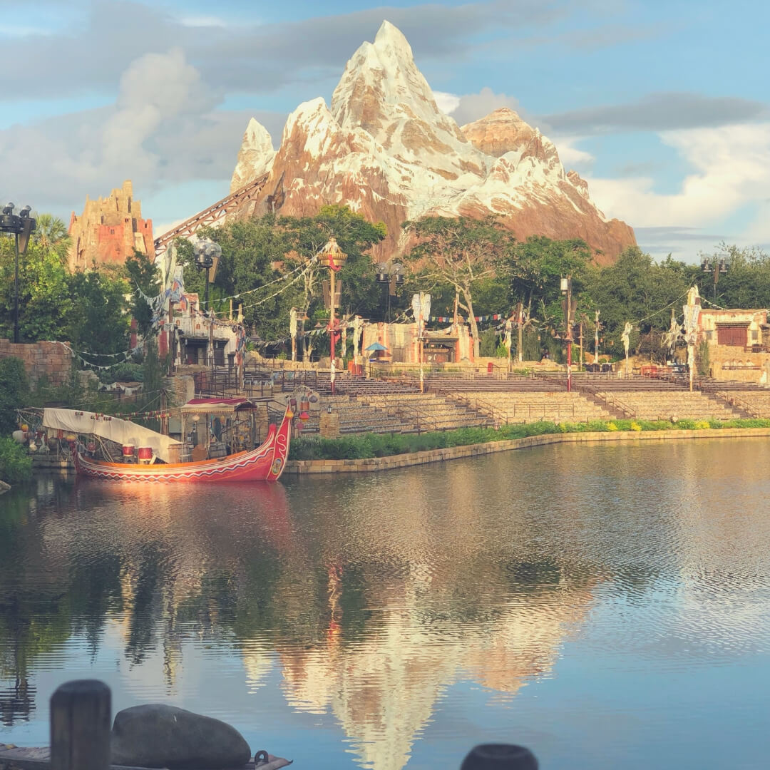 Things That Will Take Your Breath Away In Walt Disney World | Seeing Everest first thing in the morning, the beautiful colours surrounding it - it's truly a breathtaking sight.