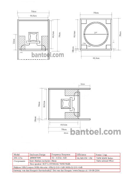 Skema dan Cara Membuat Box Speaker PLANAR 18inch-15inch