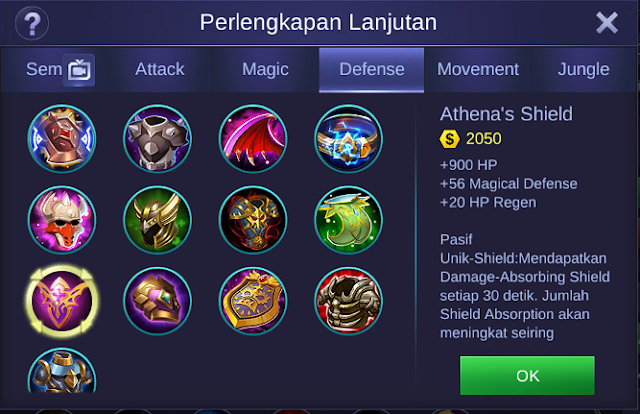 Athena's Shield Mobile Legends