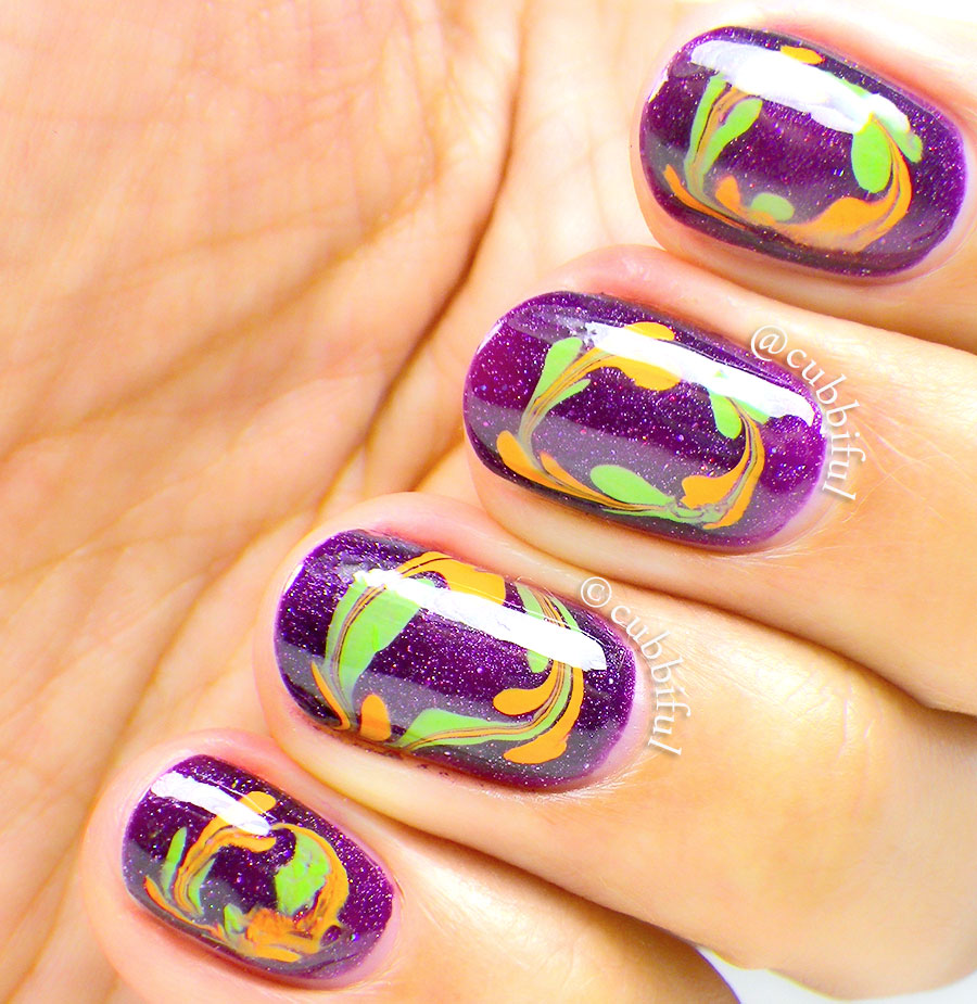 Cubbiful 40 Great Nail Art Ideas Orange Purple And Green Needle