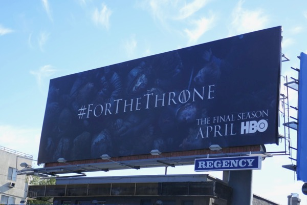 For the throne Jon Snow billboard