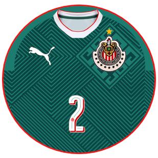 982efc716 Chivas Guadalajara 2017 - terceira camisa