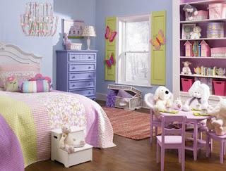 cuarto infantil tema mariposas