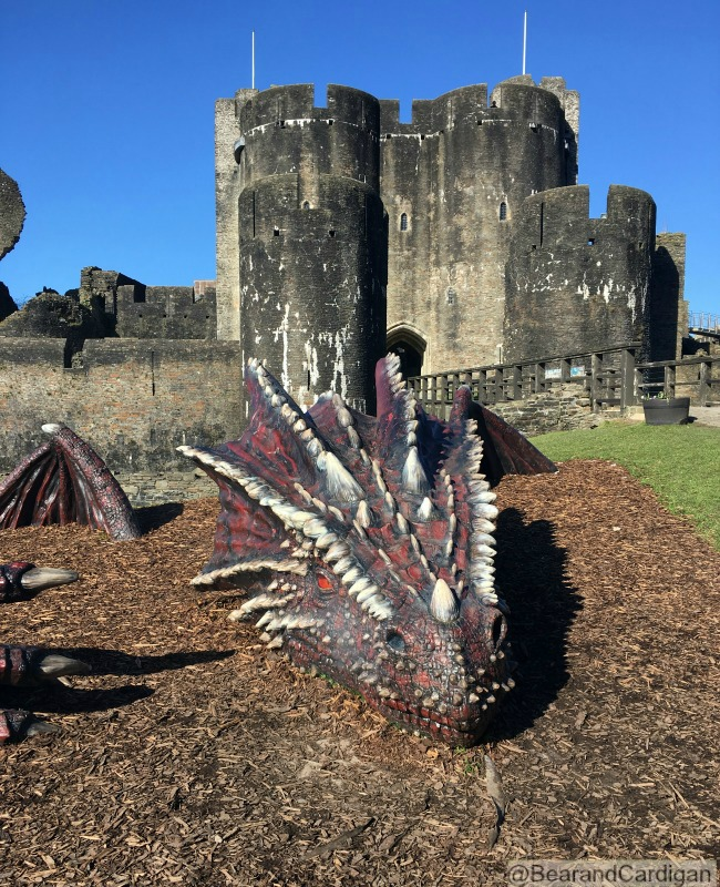 A Wish, A Kiss and a Dragon. Dragon and castle behind