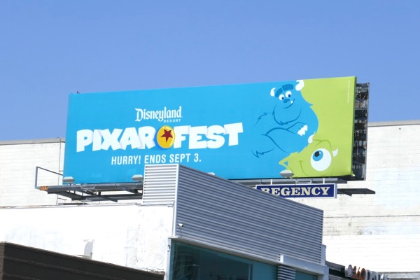 Disneyland Pixar Fest Monsters Inc billboard