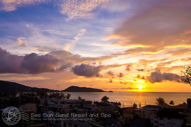 Sunset at Patong Beach from Sea Sun Sand Resort and Spa