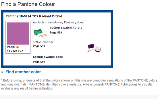 pantone colour search