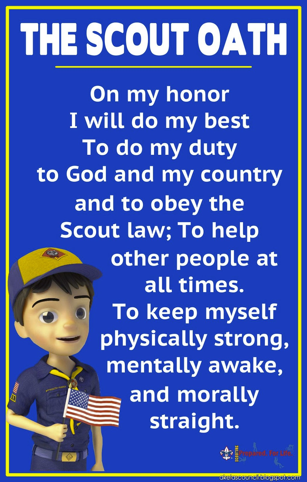 image about Cub Scout Oath and Law Printable referred to as Akelas Council Cub Scout Chief Working out: Cub Scout Legislation