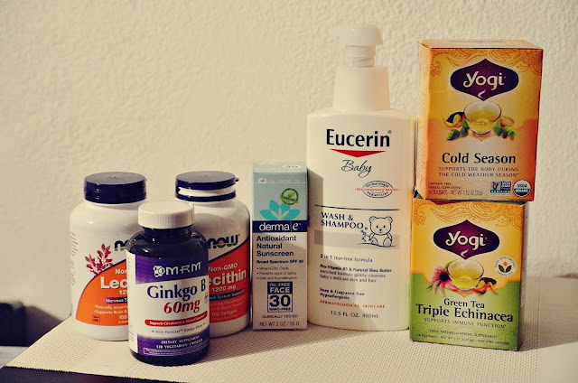 yogi tea derma e sunscreen eucerin