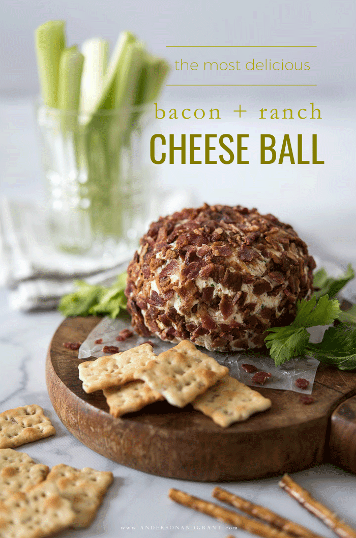Most delicious bacon and ranch cheese ball