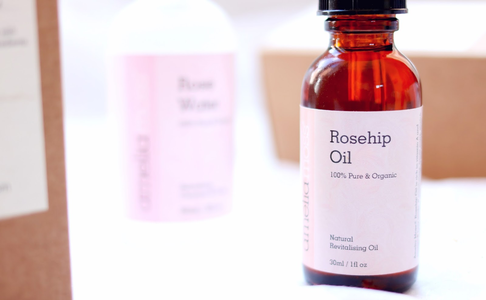 Amelia Moss Skincare, Rose Water and Rosehip Oil