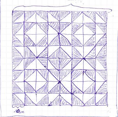 Wandteppich Ash Qult geometrische Muster
