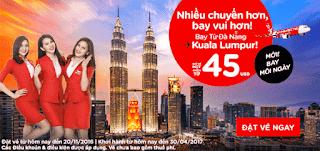 Mua vé máy bay khuyến mãi 45 usd đi Kuala Lumpur