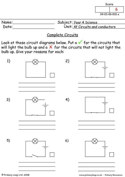 The City School Grade 4 Science Reinforcement Worksheets