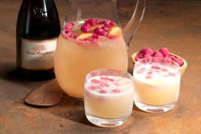Raspberry Peach Prosecco Punch Recipe