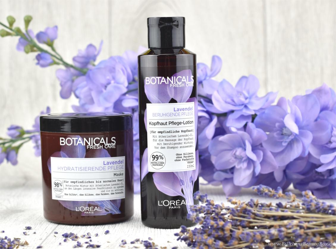 Review und Erfahrungsbericht zur L'Oréal Botanicals Lavendel Haarpflege Maske und Kopfhaut Pflege-Lotion