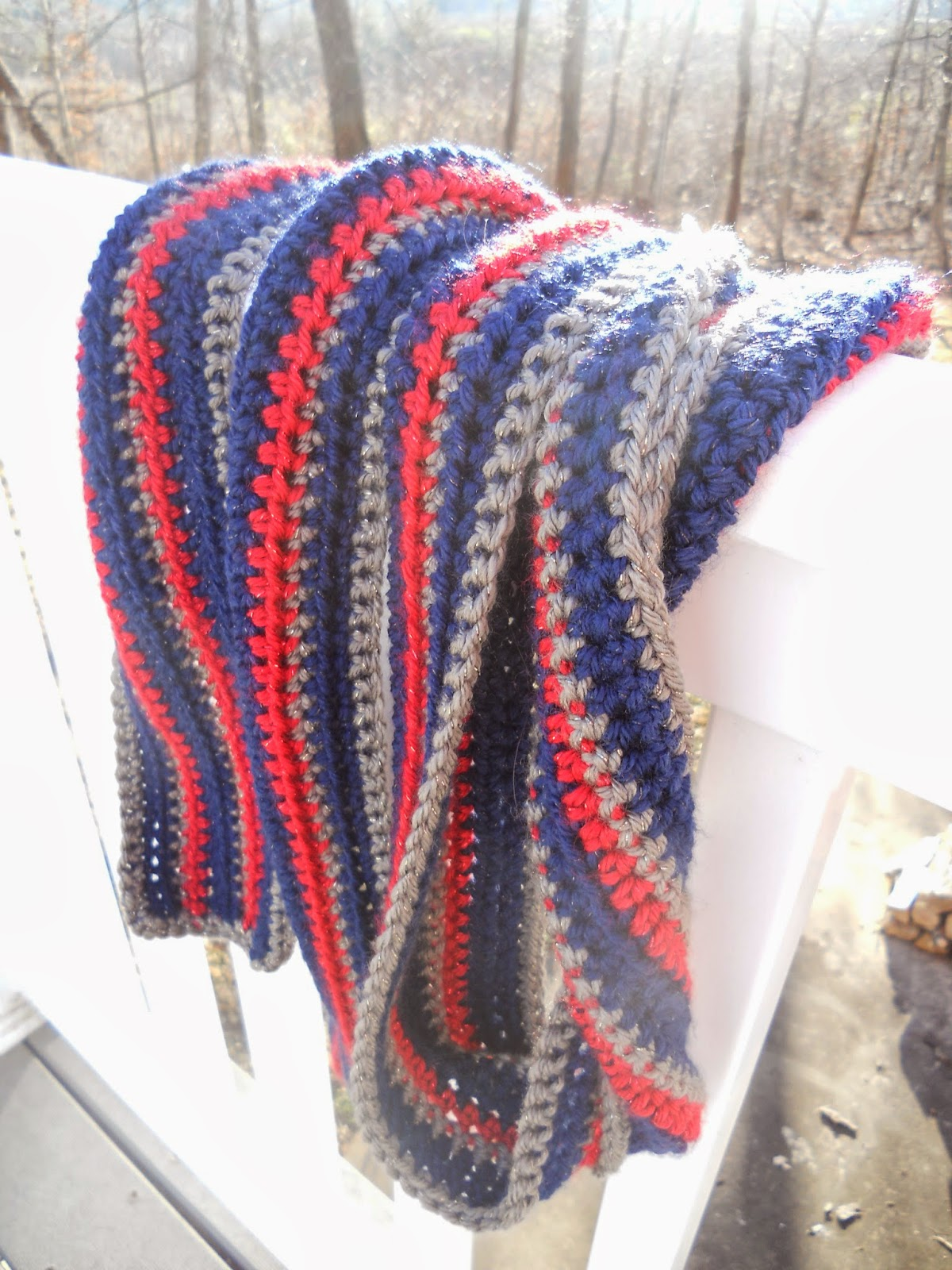 Made By Smree Winter Soldier Scarf Semi Pattern