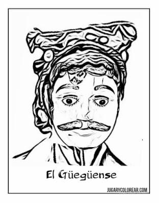 El Güegüense dibujo para pintar