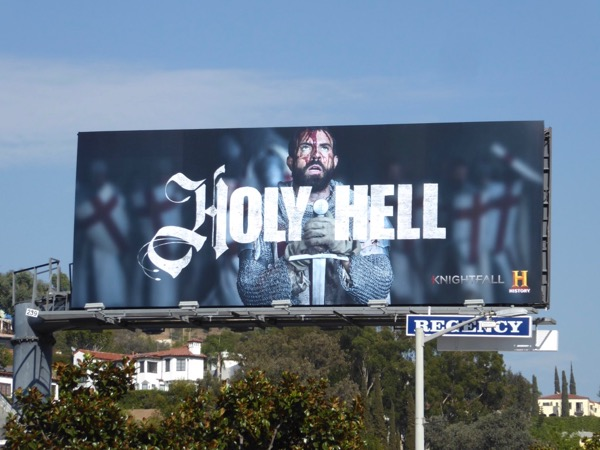 Knightfall series premiere billboard
