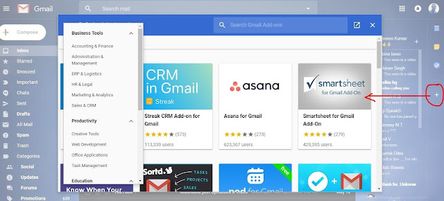 Gmail add ons using g suite marketplace