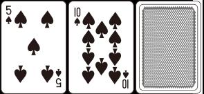 처음 두장의 카드에 만족하지 않을 경우, 딜러에게 수신호를 통하여 추가카드를 받을 수 있다.