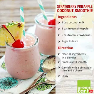 stawberry pineapple coconut
