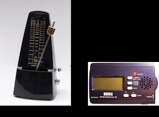 Metrónomo clásico y metrónomo electrónico