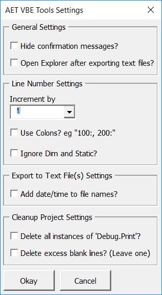 Andrew's Excel Tips: AET VBE Tools v1 6