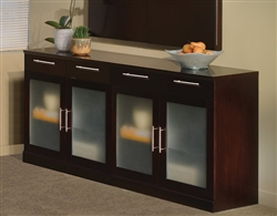 Sorento low wall buffet cabinet with espresso veneer finish