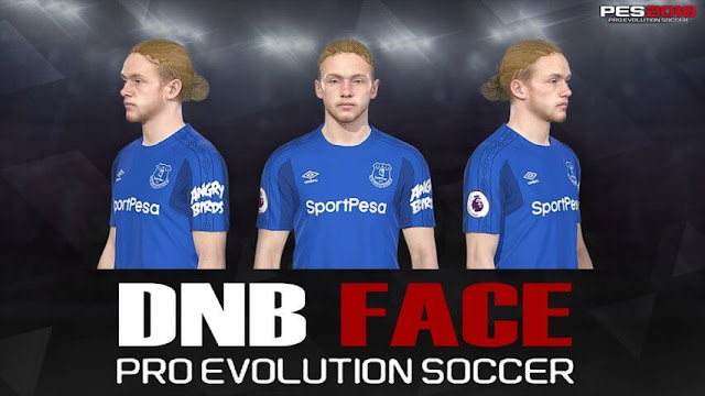 Tom Davies Face (Everton) PES 2018