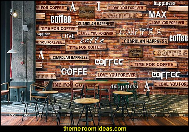 Custom size painting non-woven wallpaper photo Nostalgic coffee 3d mural