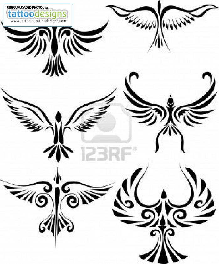 700 bird tribal tattoo tattoo bird designs 391910565