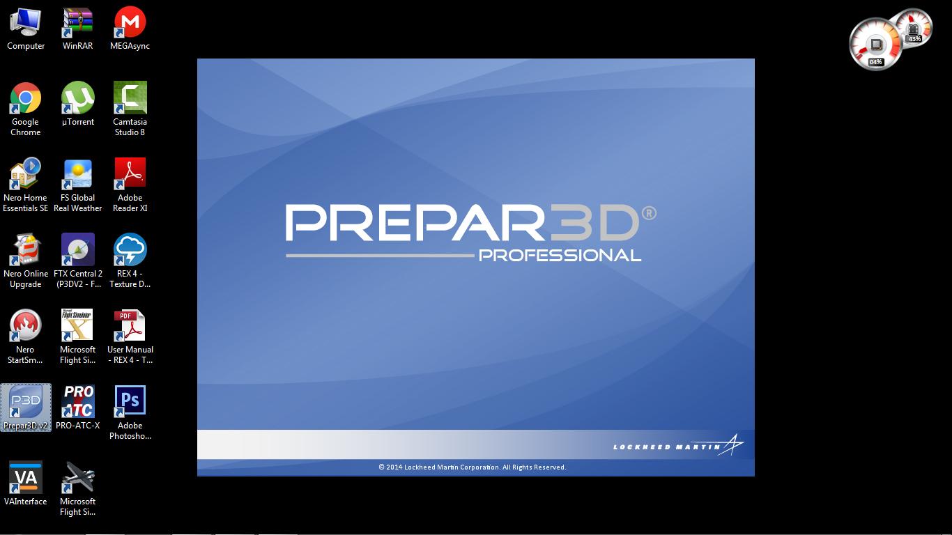 P3D V3 - Prepar3D v3 Professional Plus - addon flight simulator