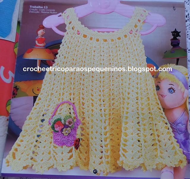 Receita De Crochê Infantil Vestidinho De Crochê Tamanho 12
