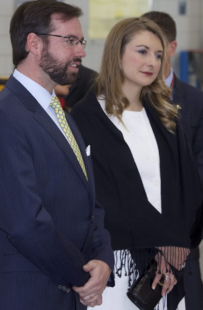 Hereditary Grand Duke Guillaume and Hereditary Grand Duchess Stephanie of Luxembourg visited the headquarters of Ampacet